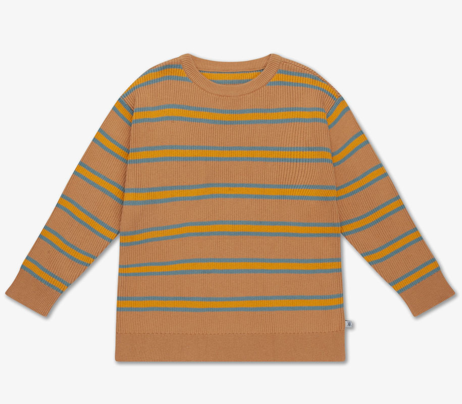 Knit Sweater SANDY BLUE STRIPE 2
