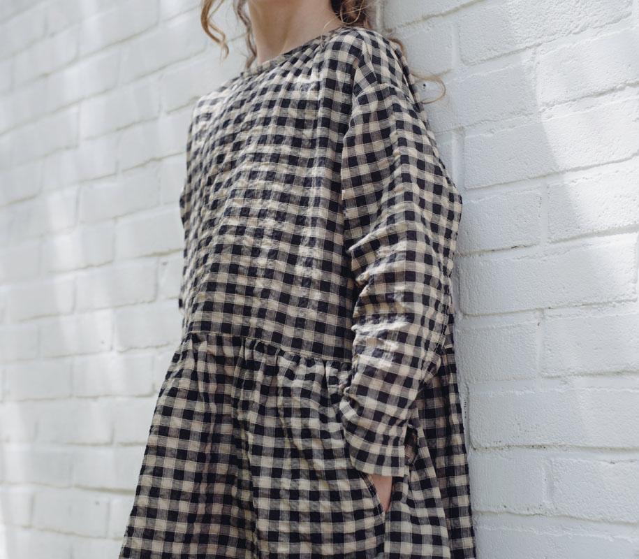 Twirl Dress NOIR BB CHECK 2