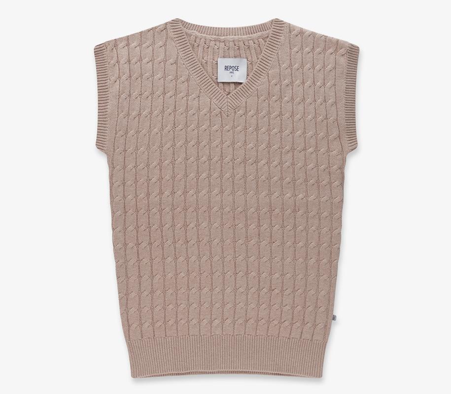 V Shape Dress WARM SAND 2