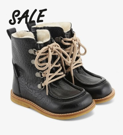 TEX-Boot with Zipper and Lace Black - Angulus