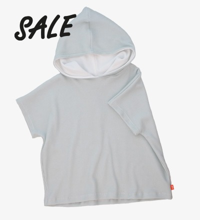 Oversized Poncho SKY GREY - HiLittle