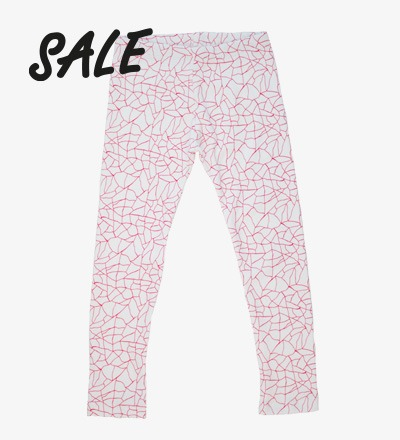 Leggings RED CRACKED AOP - HiLittle