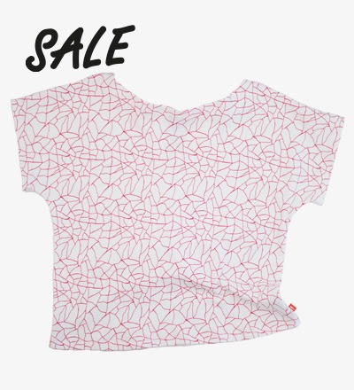 Oversized Top RED CRACKED AOP - HiLittle