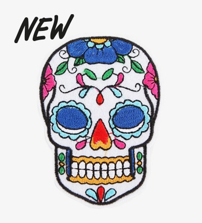 Iron-on Patch SKULL - BIJ KIKI