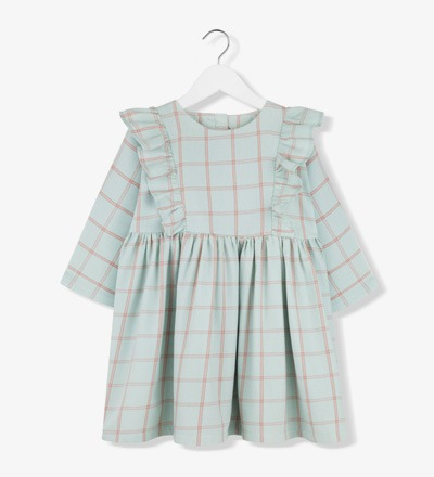 Plaid Frill Dress MINT Kids on