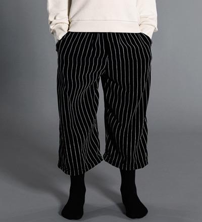 Cropped Pants STRIPED VELVET Little Man