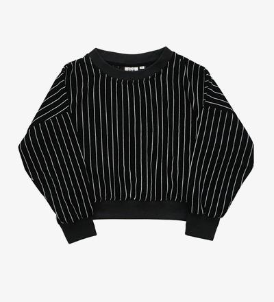 Cropped Sweater STRIPED VELVET Little Man