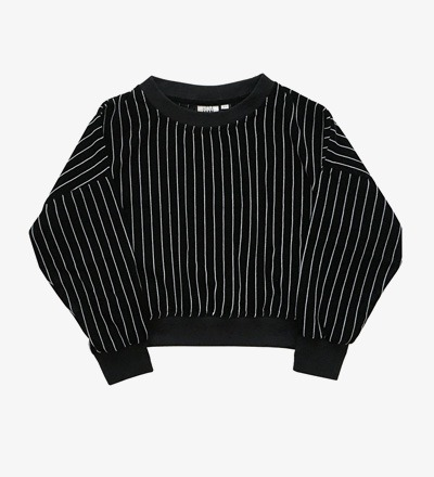Cropped Sweater STRIPED VELVET Little Man