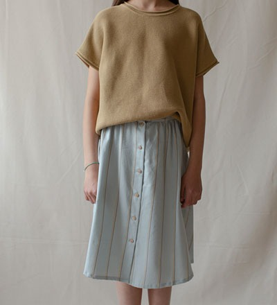 WAVE Button Skirt - Monkind Berlin