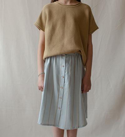 WAVE Button Skirt - Monkind Berlin