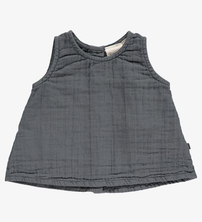 A-Line Top CHARCOAL PLAIN - Mini Sibling