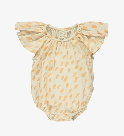 Butterfly Sunsuit PAINT SALMON Mini Sibling