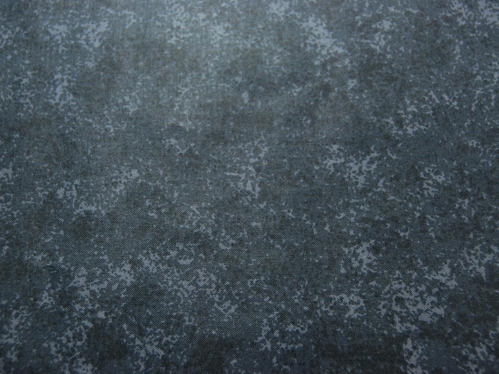 Beschichtete Baumwolle Schwarz-Blaugrau Meliert 50x68 cm - 1
