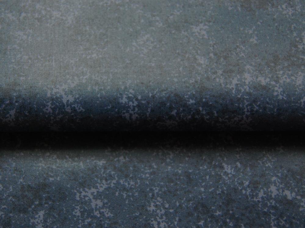 Beschichtete Baumwolle Schwarz-Blaugrau Meliert 50x68 cm - 2