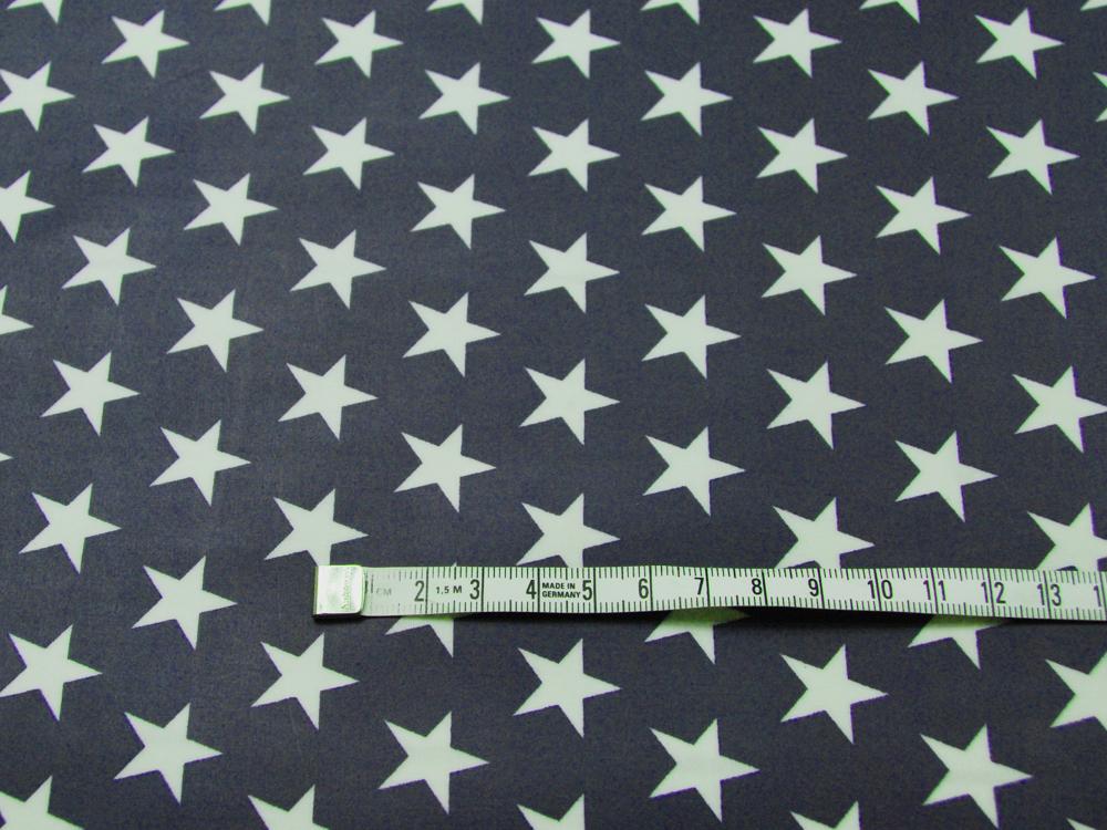 Beschichtete Baumwolle Sterne auf Nachtblau 50x70