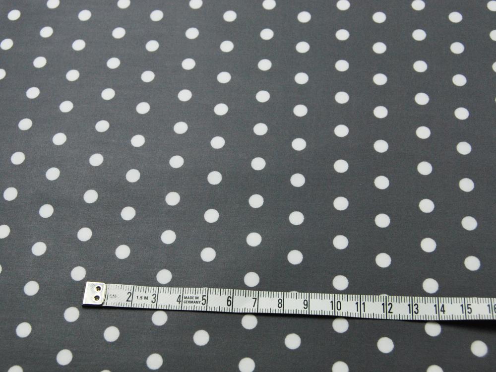 Beschichtete Baumwolle Weiße Dots auf Dunkelgrau