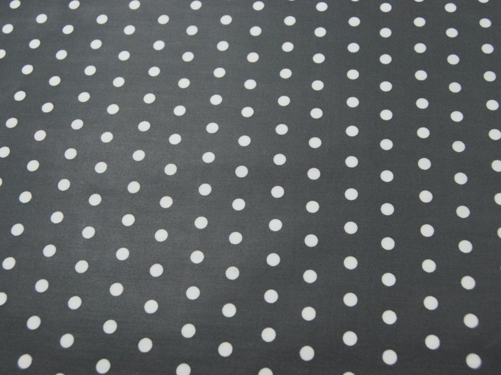 Beschichtete Baumwolle - Weiße Dots auf Dunkelgrau 50x70 cm - 1
