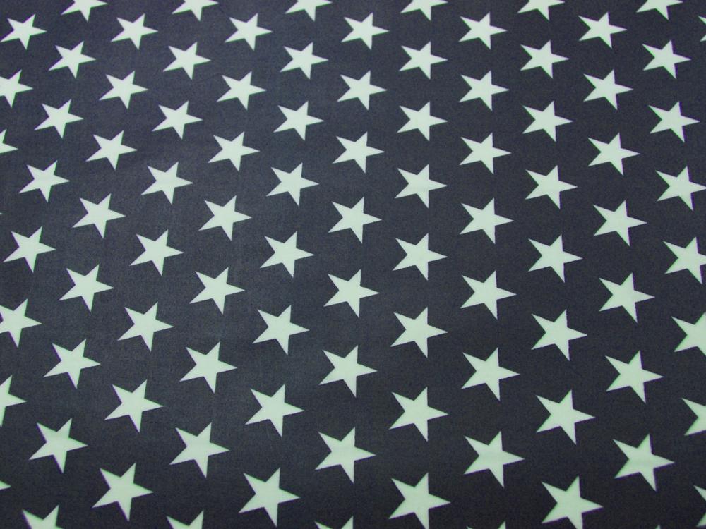Beschichtete Baumwolle Sterne auf Nachtblau 140cm