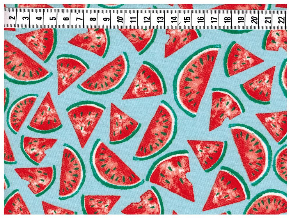 Beschichtete Baumwolle - Wassermelone 50 x75 cm