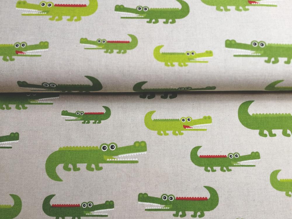 Krokodile auf Natur - Dekostoff - 0,5m - 1