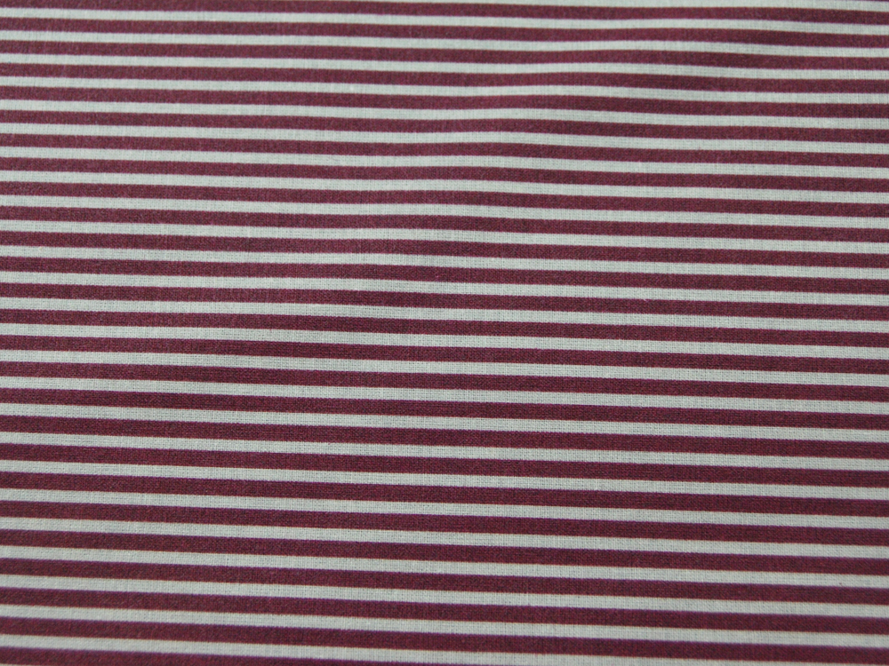 Beschichtete Baumwolle - Gestreift in Sand - Bordeaux 50 x 69 cm - 1