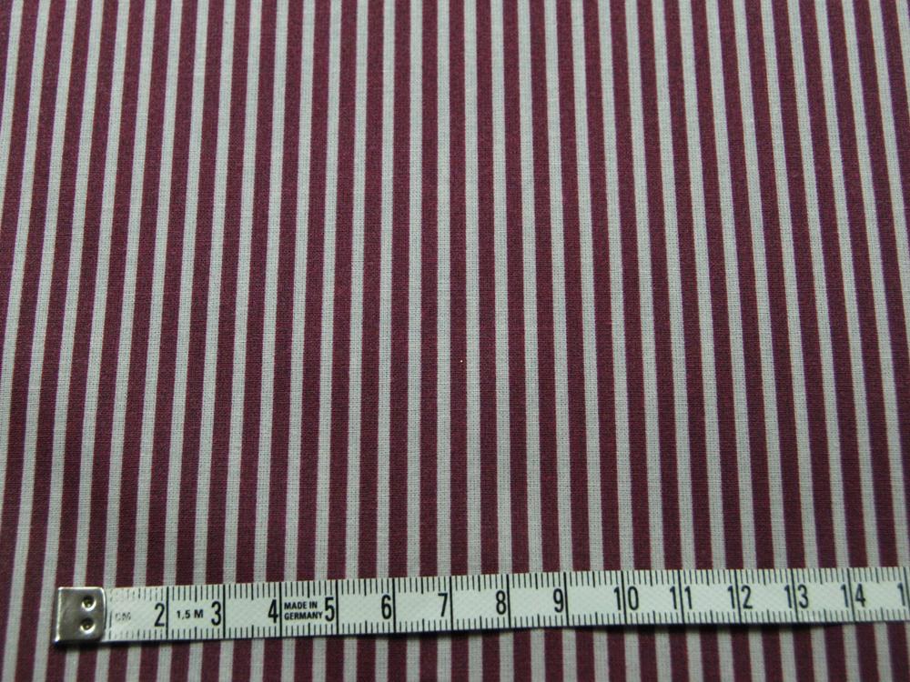Beschichtete Baumwolle - Gestreift in Sand - Bordeaux 50 x 69 cm - 2