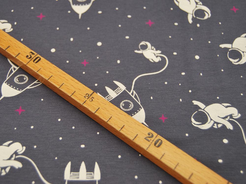 Beschichtete Baumwolle - Fächermuster Grau 50 x75 cm - 2