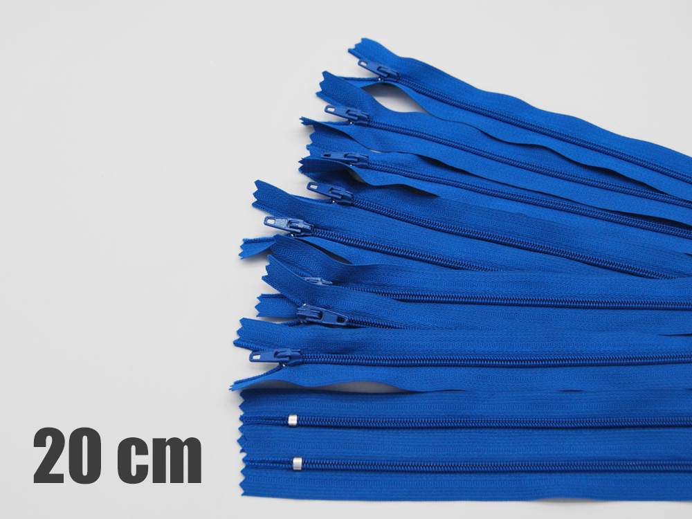 10 x 20cm victoriablaue Reißverschlüsse