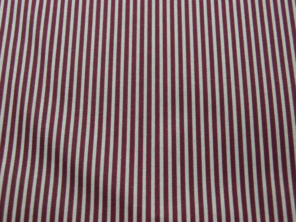 Beschichtete Baumwolle - Gestreift in Sand - Bordeaux 50 x 69 cm - 3