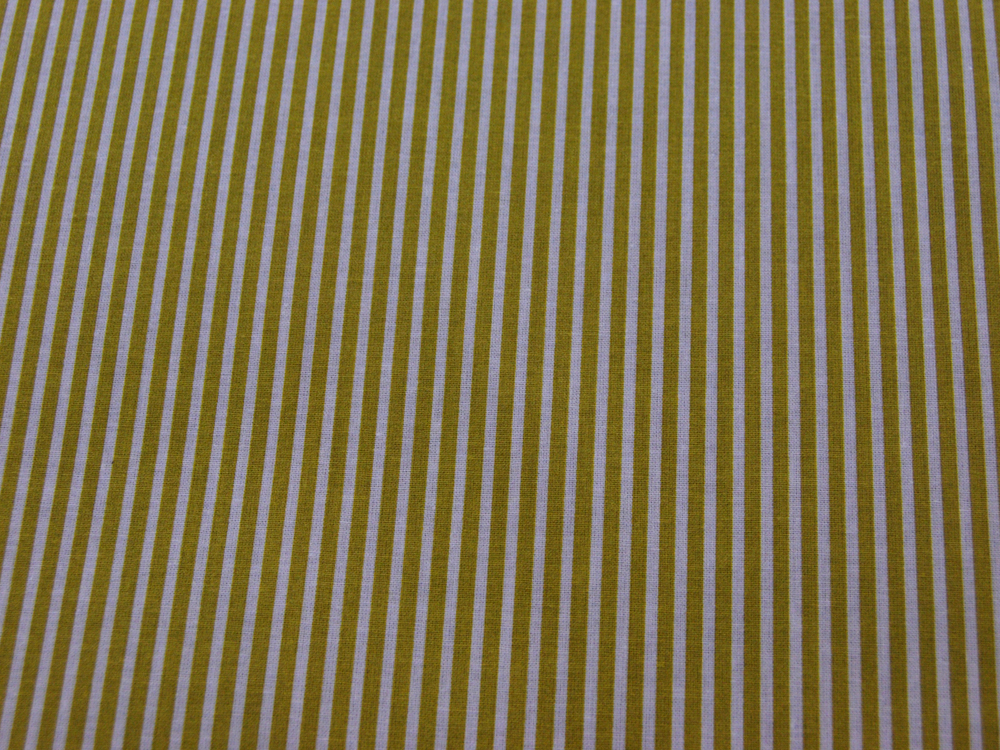 Beschichtete Baumwolle - Gestreift in Weiß-Senf 50 x 69 cm - 3