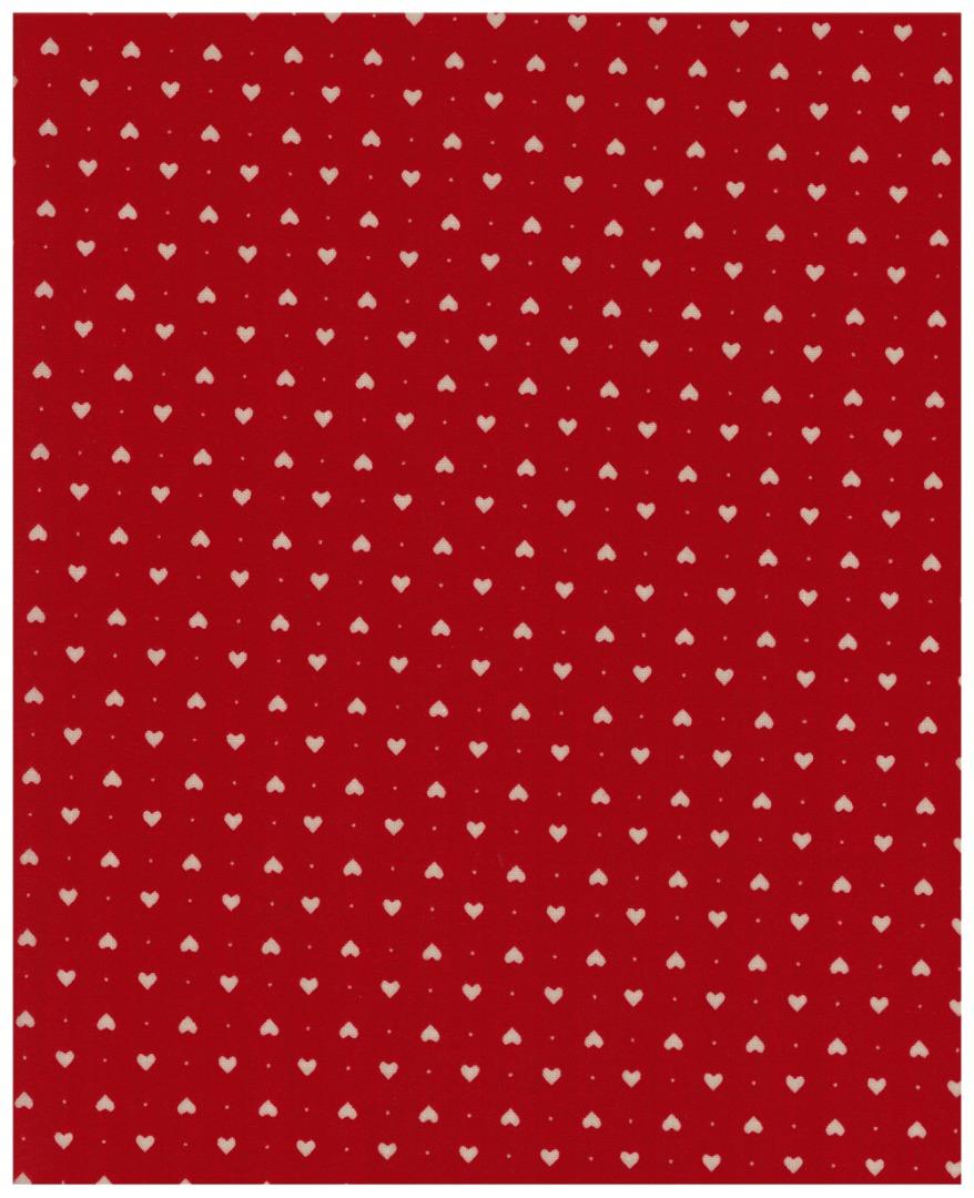 Beschichtete Baumwolle Herzen auf Rot x72