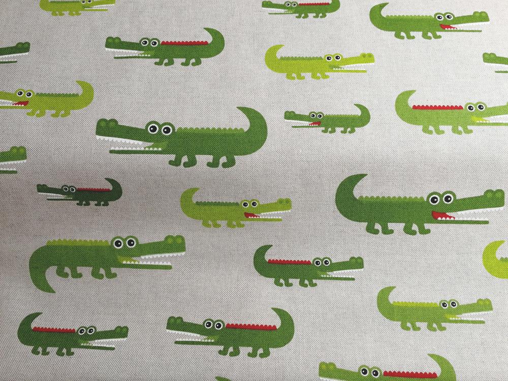 Krokodile auf Natur - Dekostoff - 0 5m