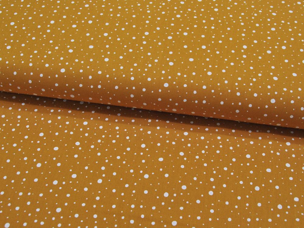 Sandfarbene Ranken auf Rot - Baumwolle 0 5m