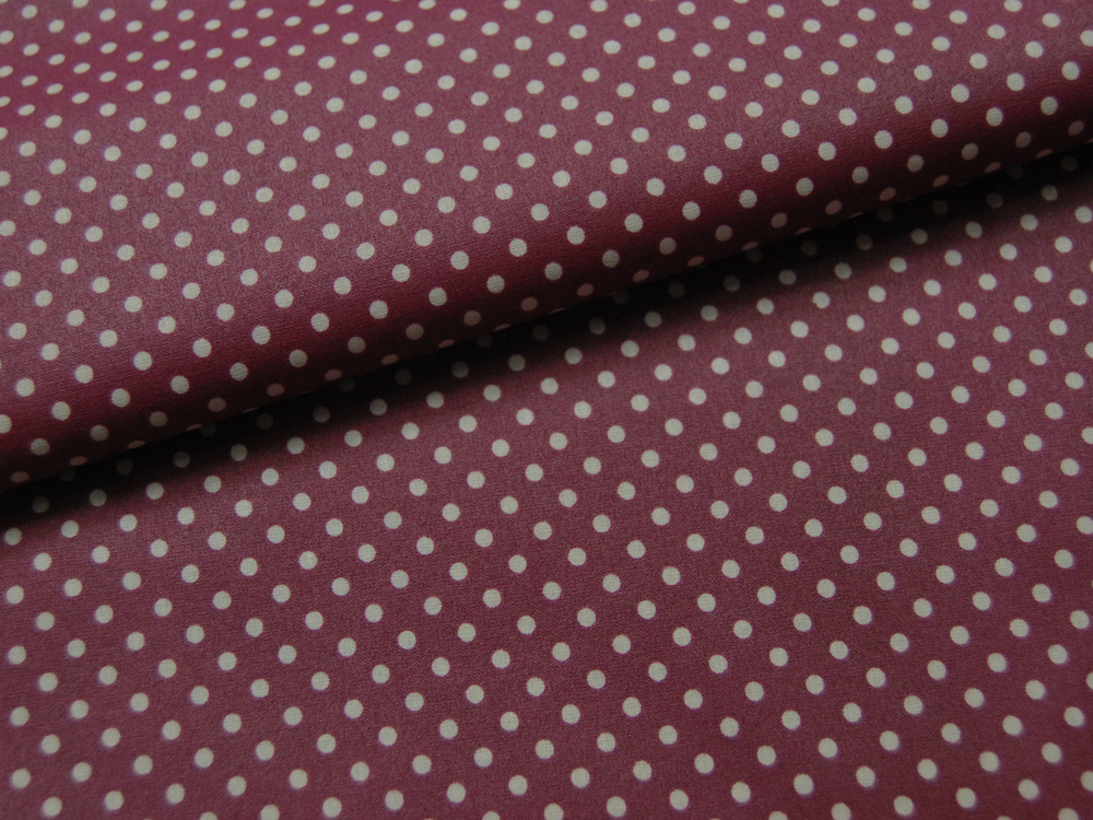 Beschichtete Baumwolle - Punkte auf Bordeaux 50 x 69 cm - 1