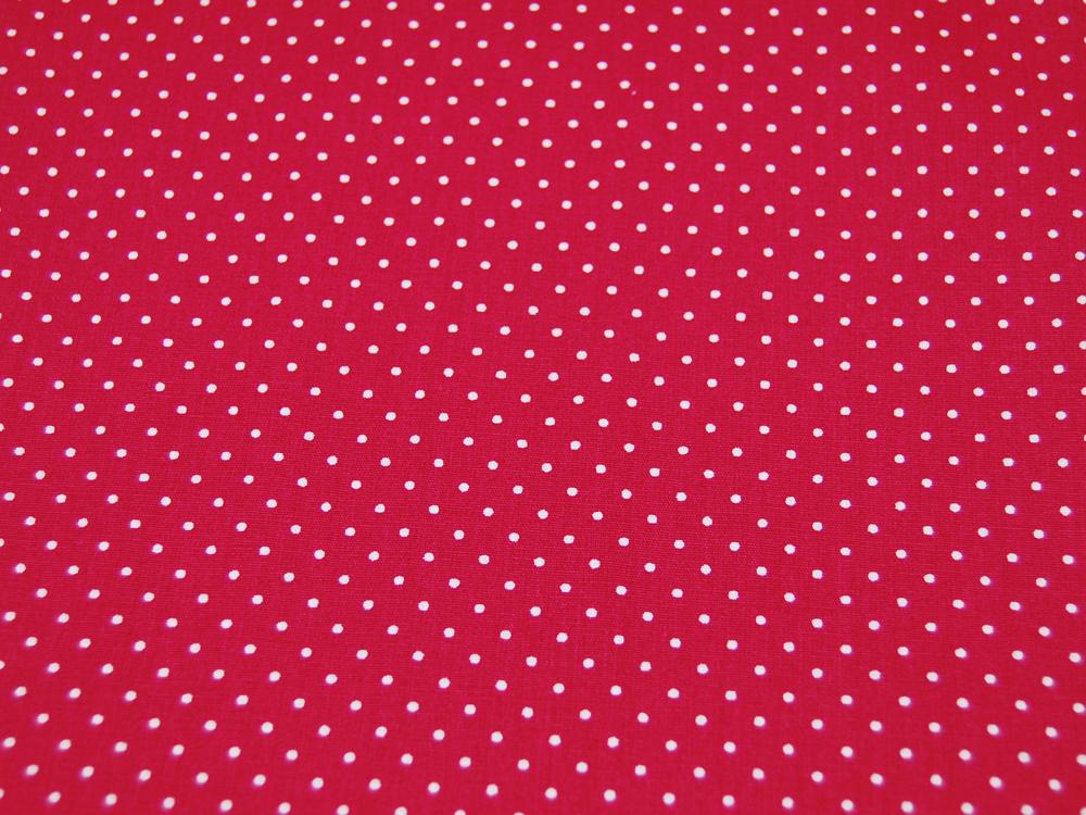 Petit Dots auf Cerise - Baumwolle