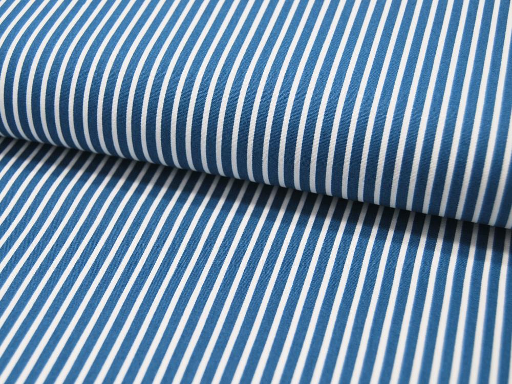 Baumwolle - Stripe - Blau-Weiss gestreift
