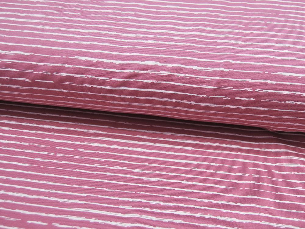 Jersey Streifen in Old Rose Altrosa