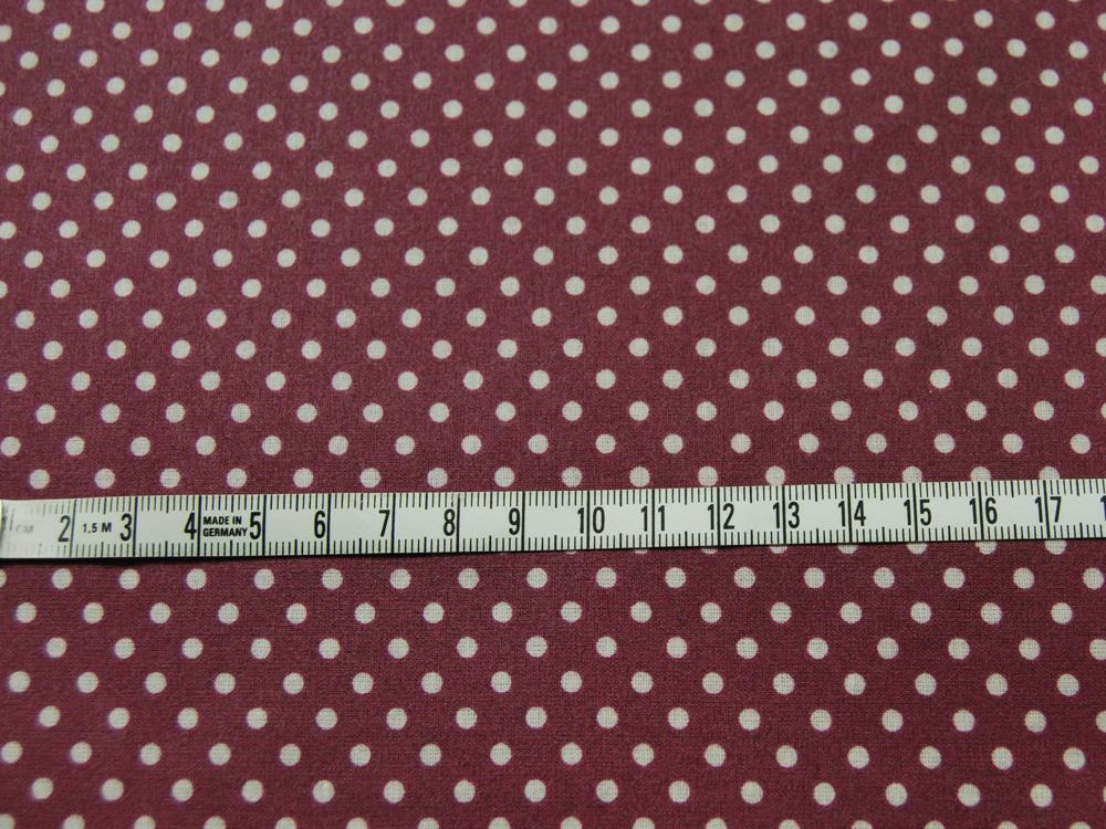 Beschichtete Baumwolle Punkte auf Bordeaux cm - 2