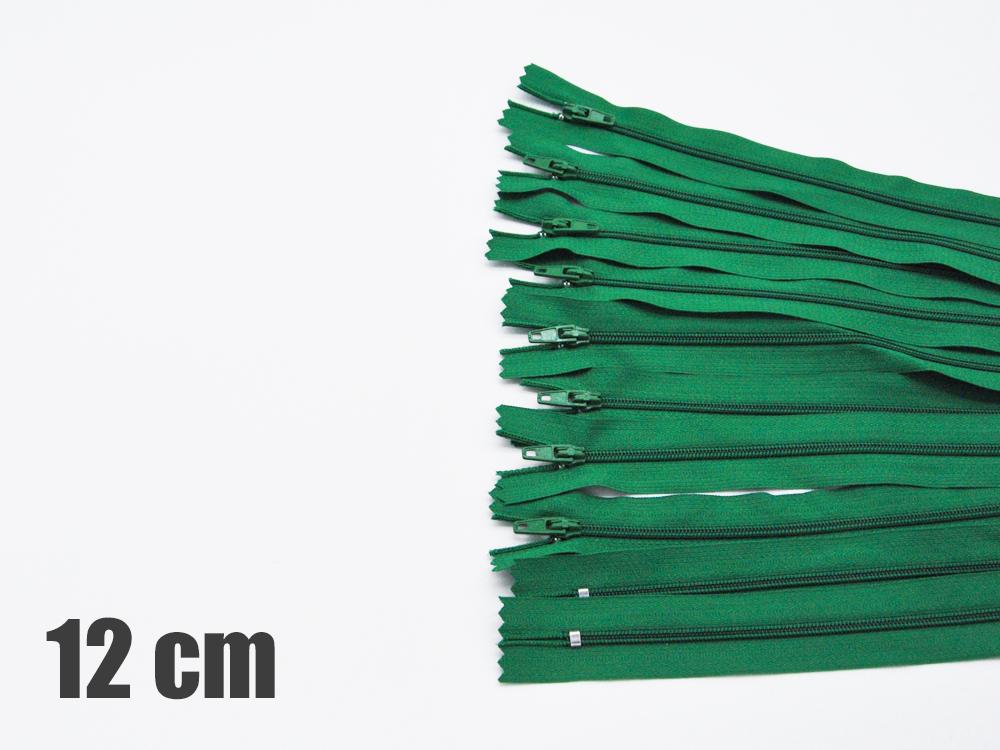 10 x 12cm grüne Reißverschlüsse