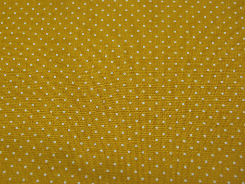 Petit Dots auf Ocker - Baumwolle 0,5 m - 2