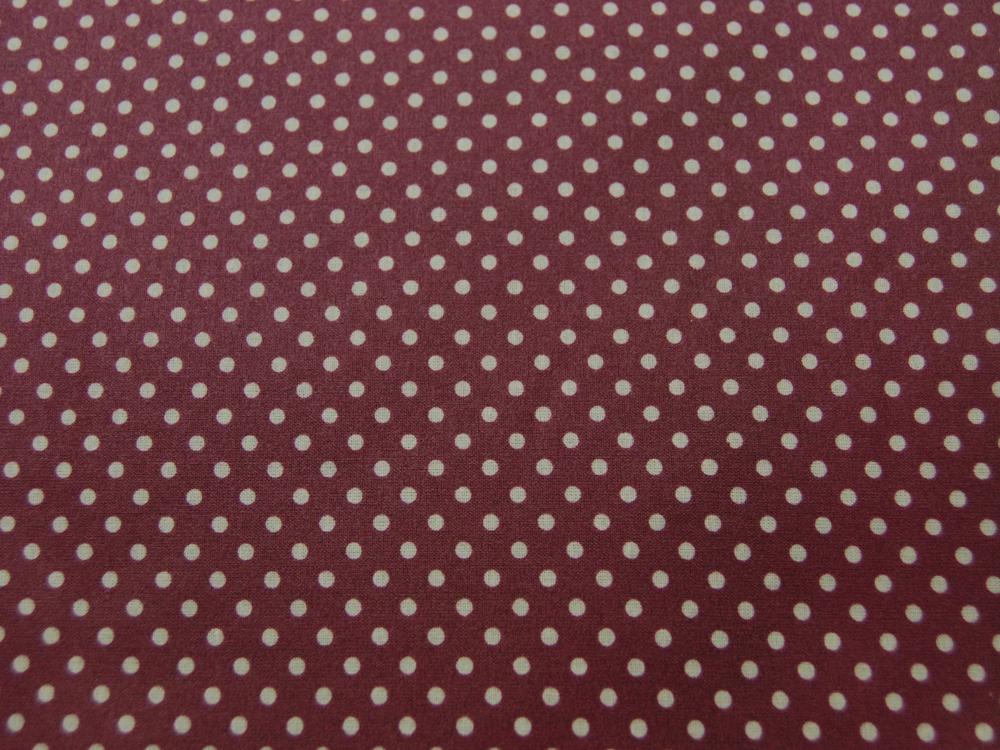 Beschichtete Baumwolle Punkte auf Bordeaux cm - 3