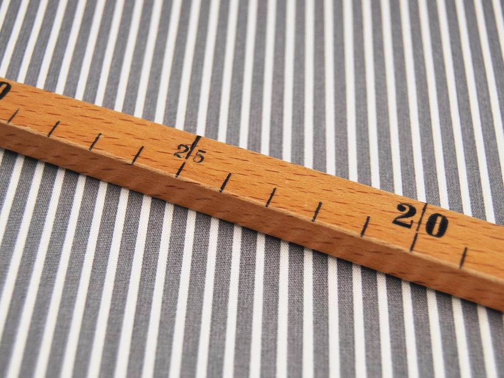 Baumwolle - Stripe - Grau-Weiss gestreift