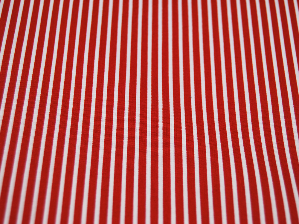 Baumwolle - Stripe - Rot-Weiss gestreift