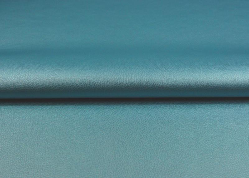 Kunstleder in Hellblau Metalli - 0,5 Meter
