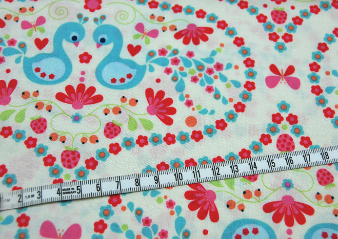 Flutterberry - Romantische Baumwolle 0,5 m - 3