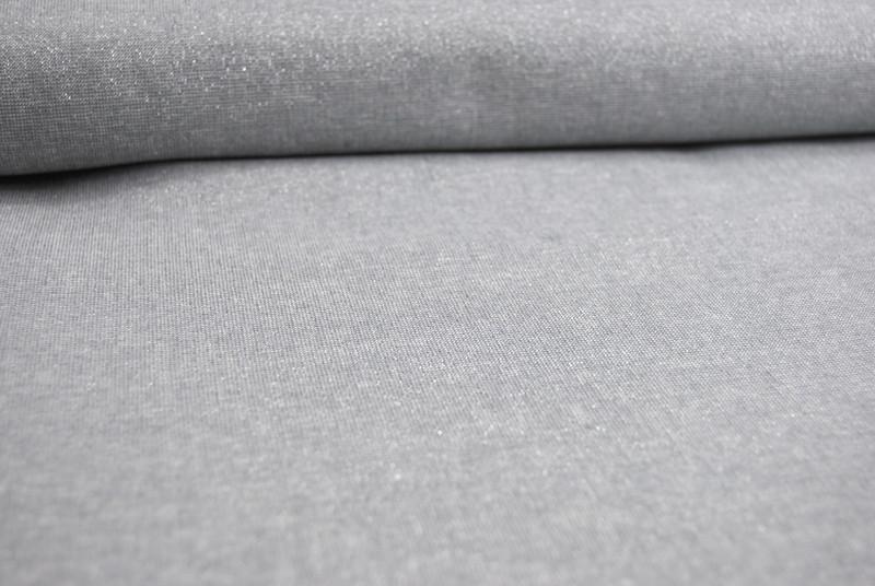 Essex Yarn Dyed Metallic - Fog - Glitzerstoff 0.5m - 2