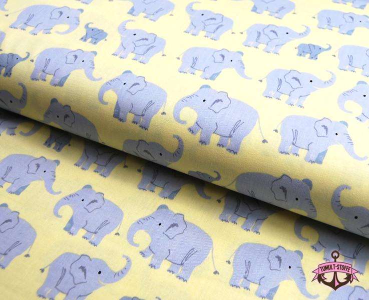Wild Adventure - Elefantenfamilie Baumwolle - 0,5m - 1