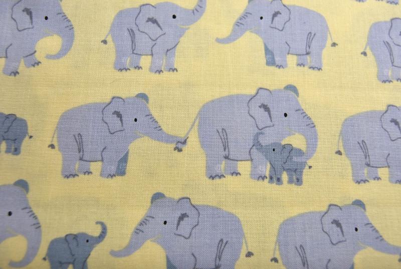 Wild Adventure - Elefantenfamilie Baumwolle - 0,5m - 2