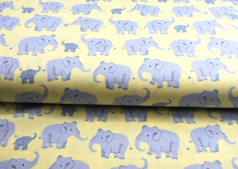 Wild Adventure - Elefantenfamilie Baumwolle - 0,5m - 3