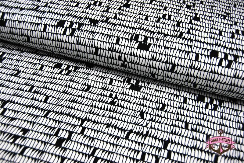 Carkai - Graphisches Muster Baumwolle - 0 5m